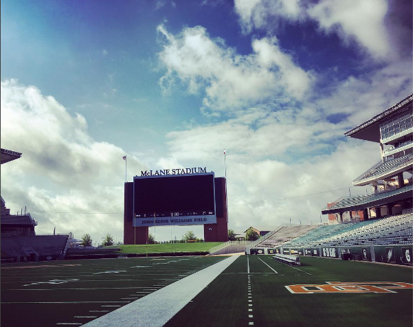 We got to go on the field at McLane Stadium!